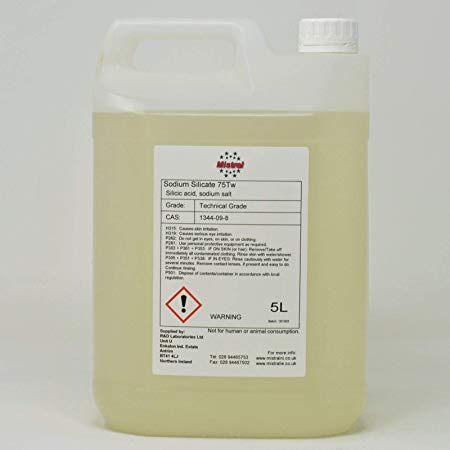 Sodium Silicate Solution 75Tw - Waterglass - Concrete sealer, Adhesive, Automotive gasket sealant