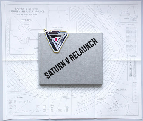 Saturn V Relaunch Book, Map and Mission Patch