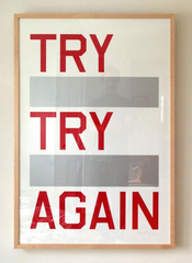 "TRY TRY AGAIN 26"" x 40"""