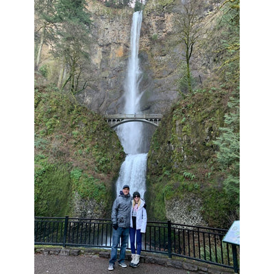 Greeting Card - Multnomah Falls