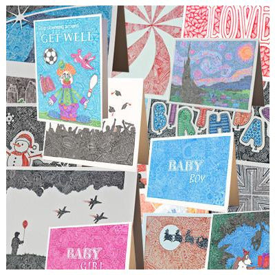 Greeting Cards - Any 5 for $20.00-Greeting Cards-Viz Art Ink
