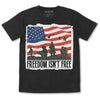 T-Shirt - American Heroes (Navy, Black & Red)-Clothing-Viz Art Ink