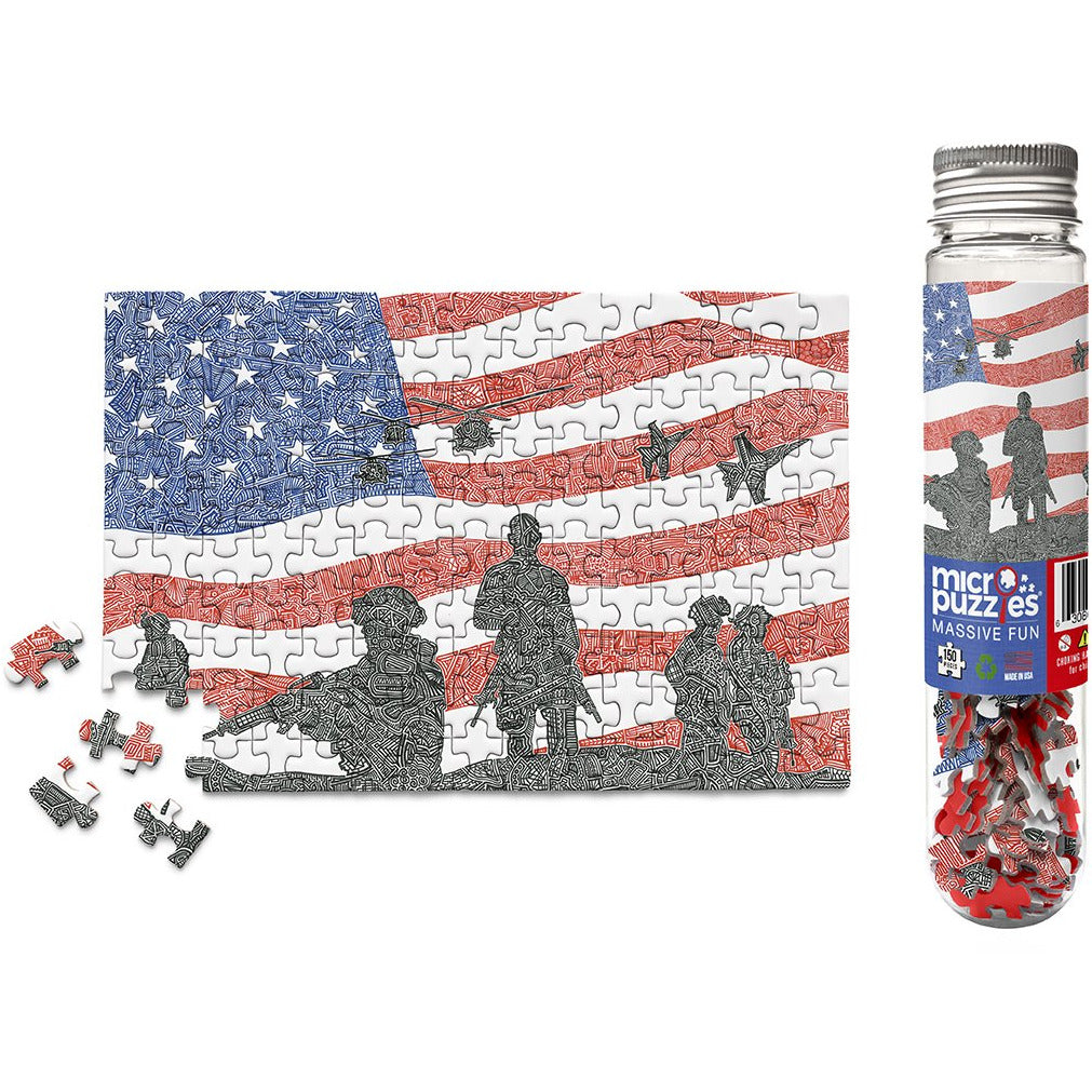 Micro Puzzle - American Heroes