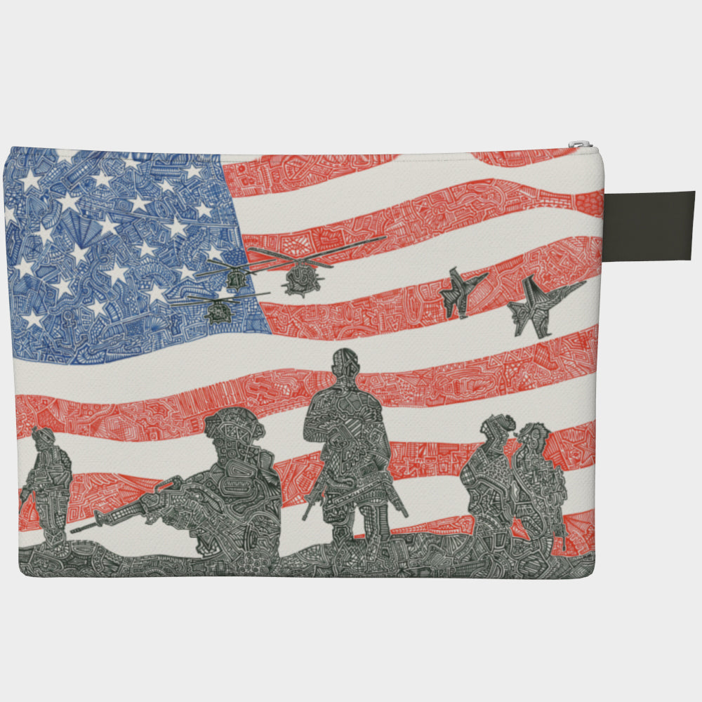 Large Zipper Bag - American Heroes