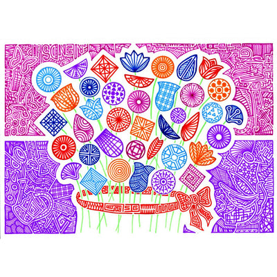Art Print - Angela's Bouquet-Art Print-Viz Art Ink