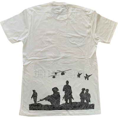 T-Shirt - American Heroes (Navy, Black, Red & White)