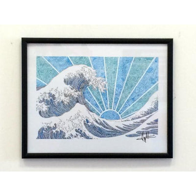 Art Print - Off California (Blue)-Art Print-Viz Art Ink