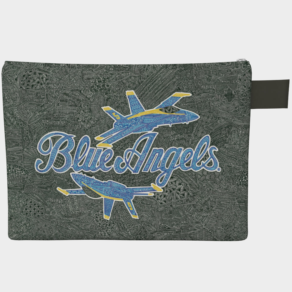 Large Zipper Bag - Blue Angels