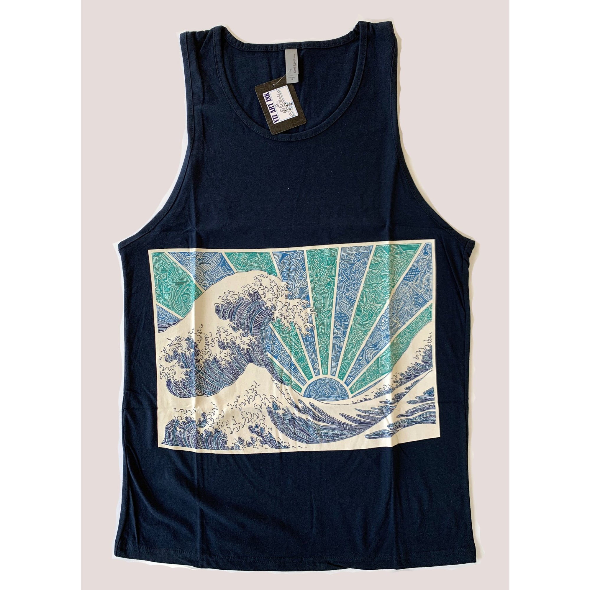 Tank Top - Off California (Navy & White)