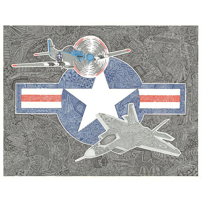 Art Print - Flight of the Fighter-Art Print-Viz Art Ink