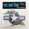 Vinyl Sticker - Flight of the Fighter-Stickers-Viz Art Ink