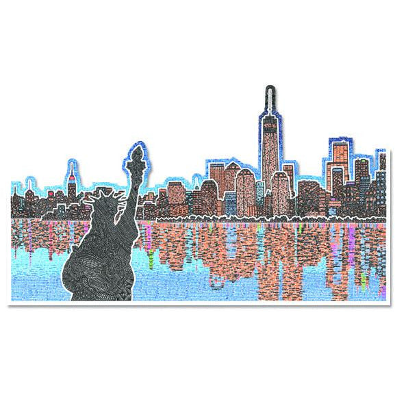 Vinyl Sticker - Light Up New York-Stickers-Viz Art Ink