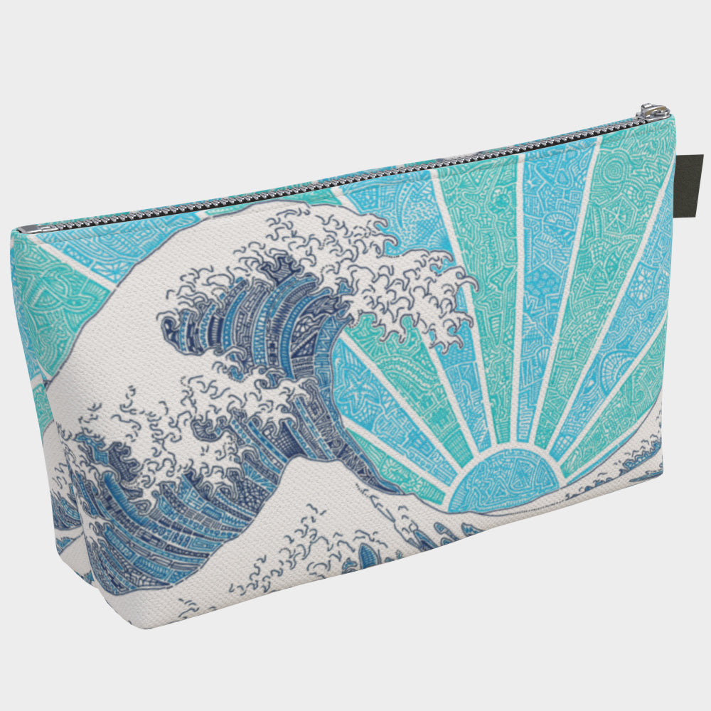 Makeup/Carry Bag - Off California (Blue)