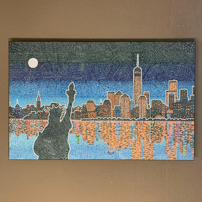 Metal Print - Light Up New York