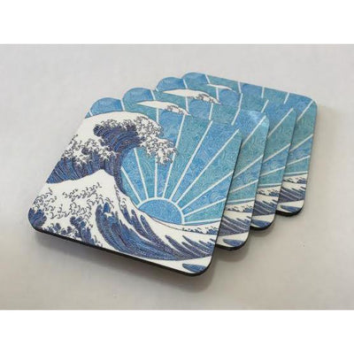 Coasters - Off California (Blue)-Coasters-Viz Art Ink
