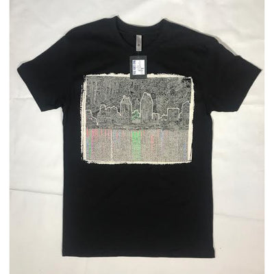 T-Shirt - Reflecting San Diego (Black & White)-Clothing-Viz Art Ink