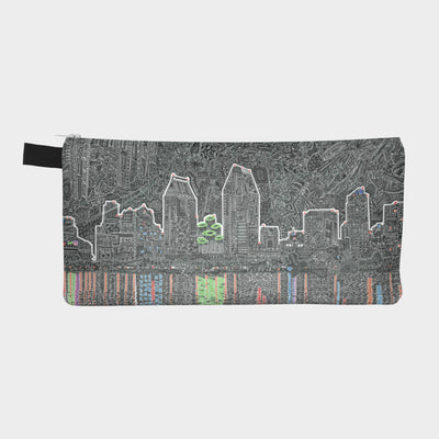 Small Zipper Bag - Reflecting San Diego