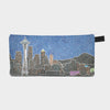 Small Zipper Bag - Seattle's Night