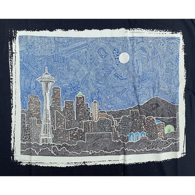 T-Shirt - Seattle's Night (Black & Navy)