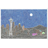 Art Print - Seattle's Night-Art Print-Viz Art Ink