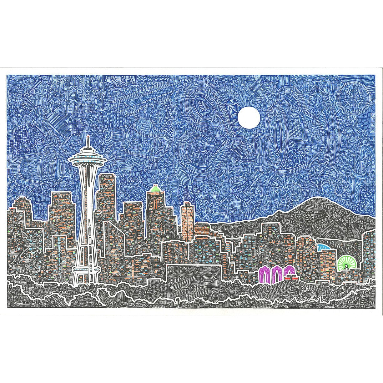 Art Print - Seattle's Night