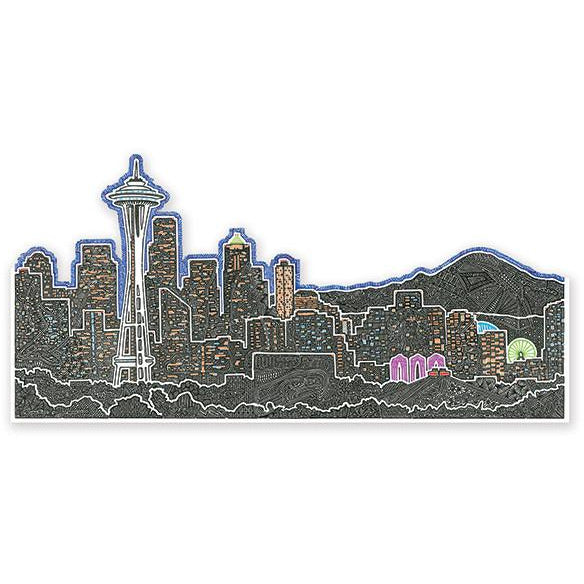 Vinyl Sticker - Seattle's Night-Stickers-Viz Art Ink