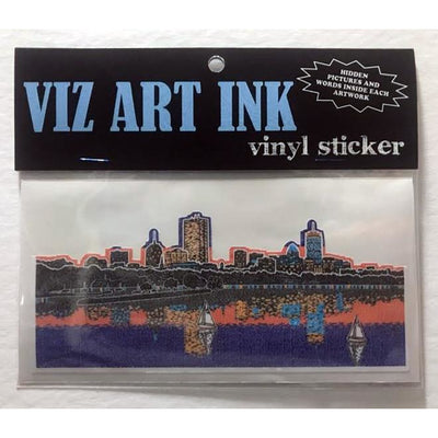 Vinyl Sticker - Back Bay in Boston-Stickers-Viz Art Ink