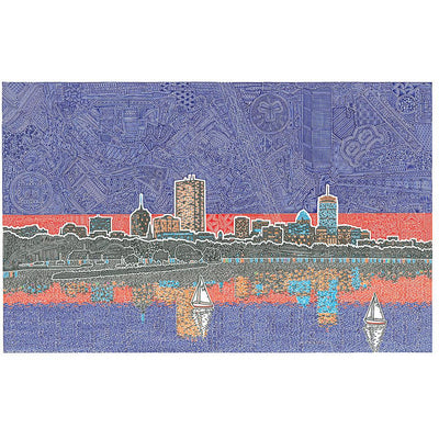Art Print - Back Bay in Boston-Art Print-Viz Art Ink