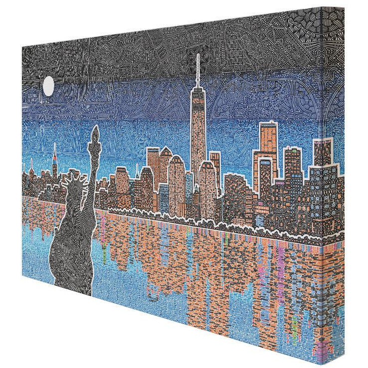 Canvas - Light Up New York-Canvas-Viz Art Ink