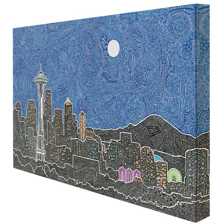 Canvas - Seattle's Night-Canvas-Viz Art Ink