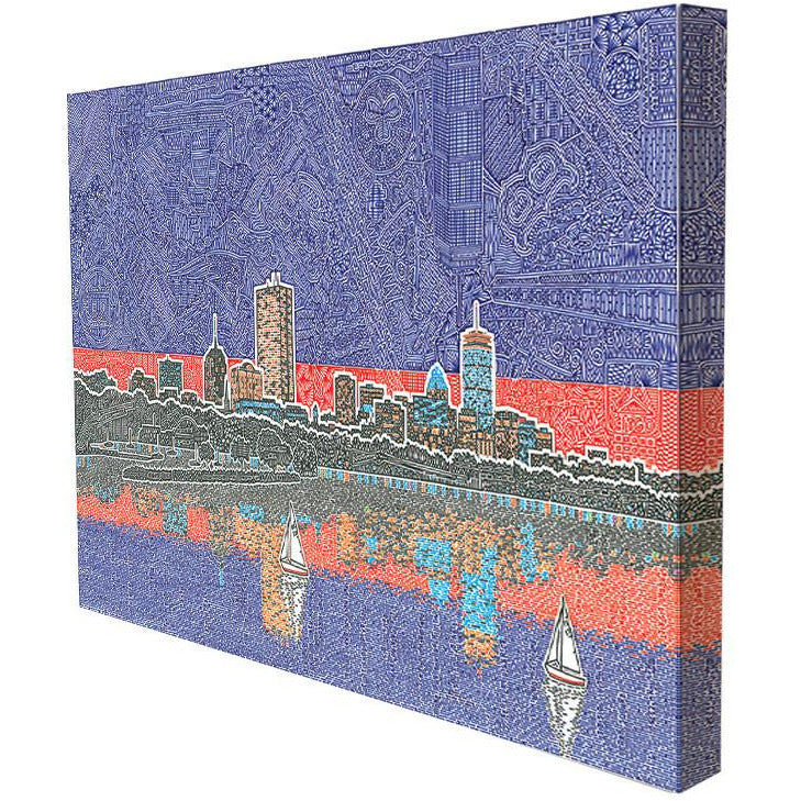 Canvas - Back Bay in Boston-Canvas-Viz Art Ink