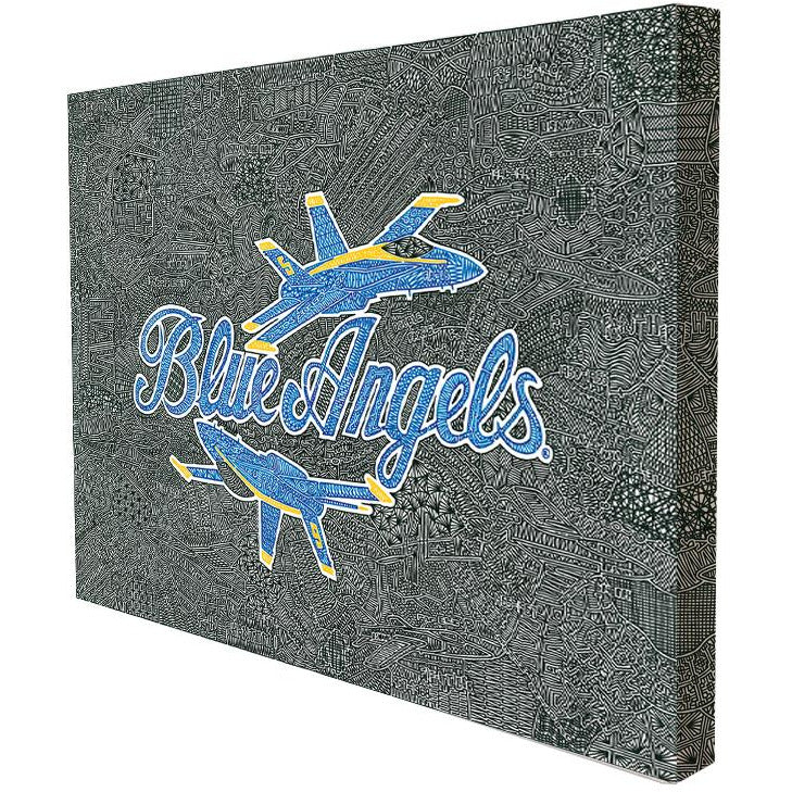 Canvas - Blue Angels-Canvas-Viz Art Ink