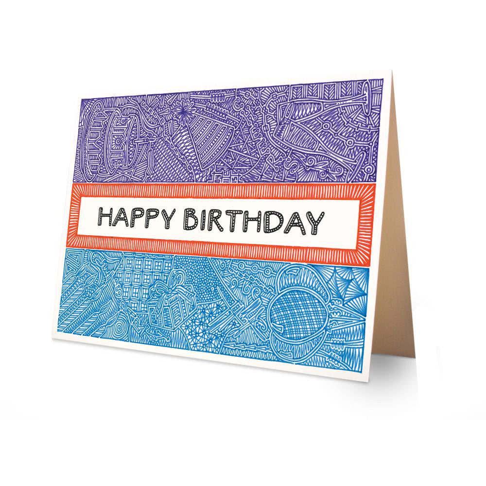 Greeting Card - Happy Birthday-Greeting Cards-Viz Art Ink