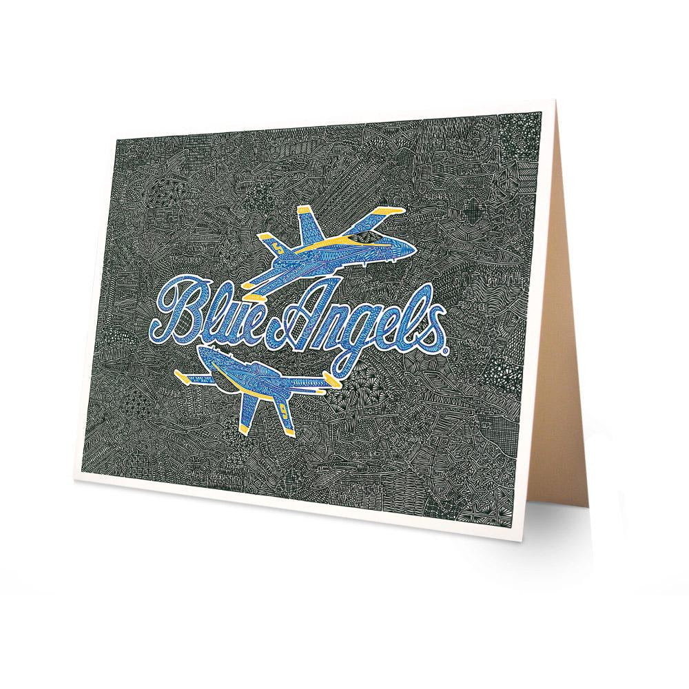 Greeting Card - Blue Angels-Greeting Cards-Viz Art Ink