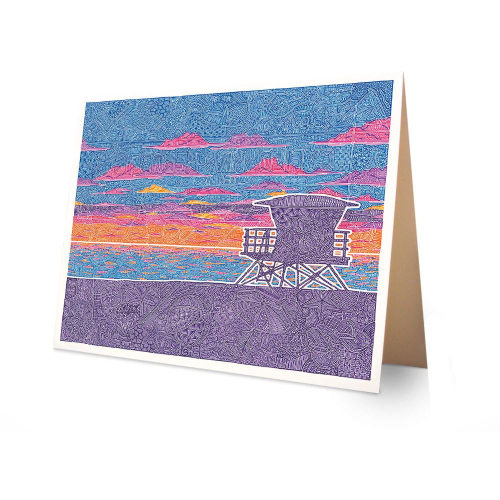 Greeting Card - Coastal California-Greeting Cards-Viz Art Ink