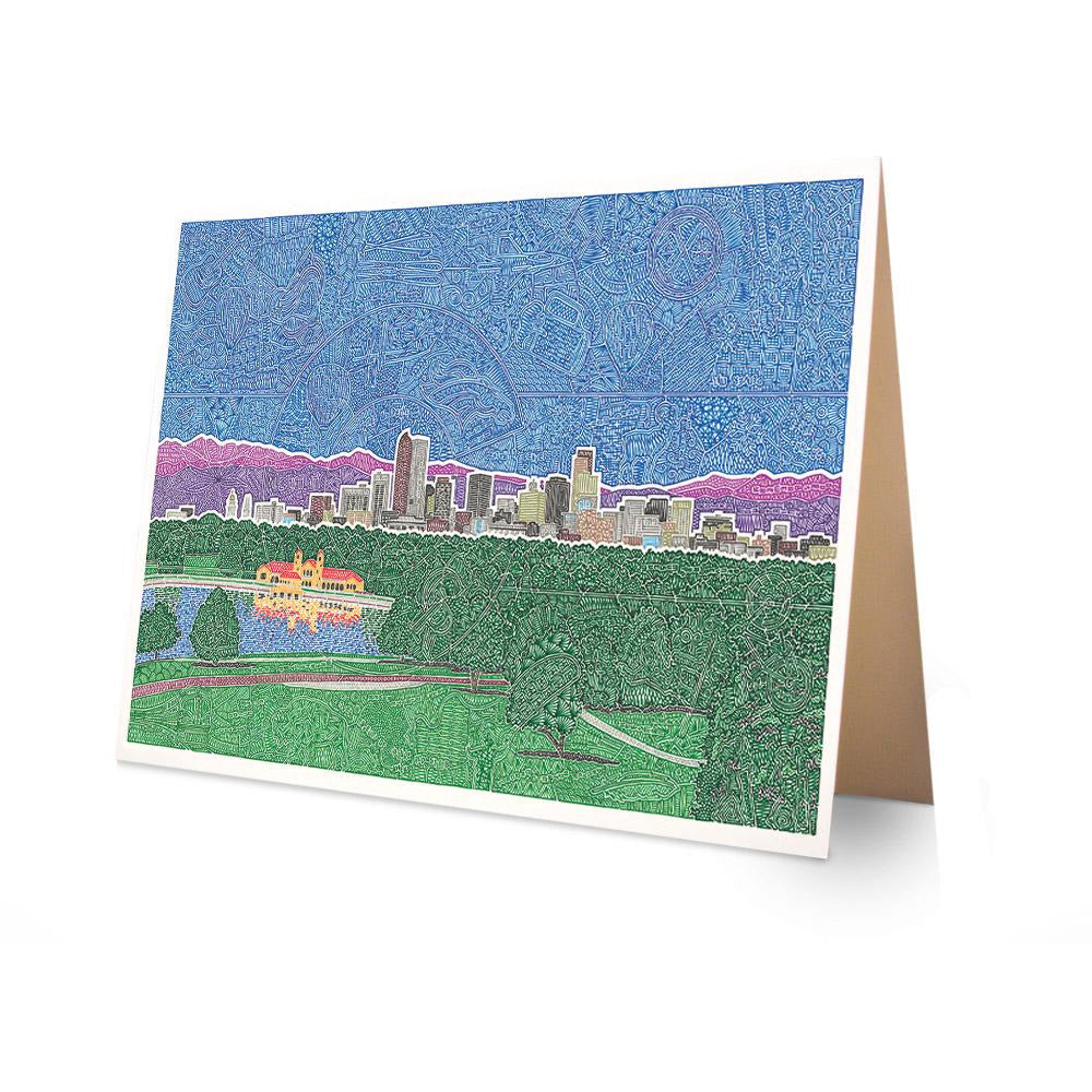 Greeting Card - Downtown Denver