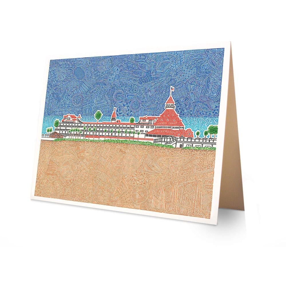 Greeting Card - Hotel Del