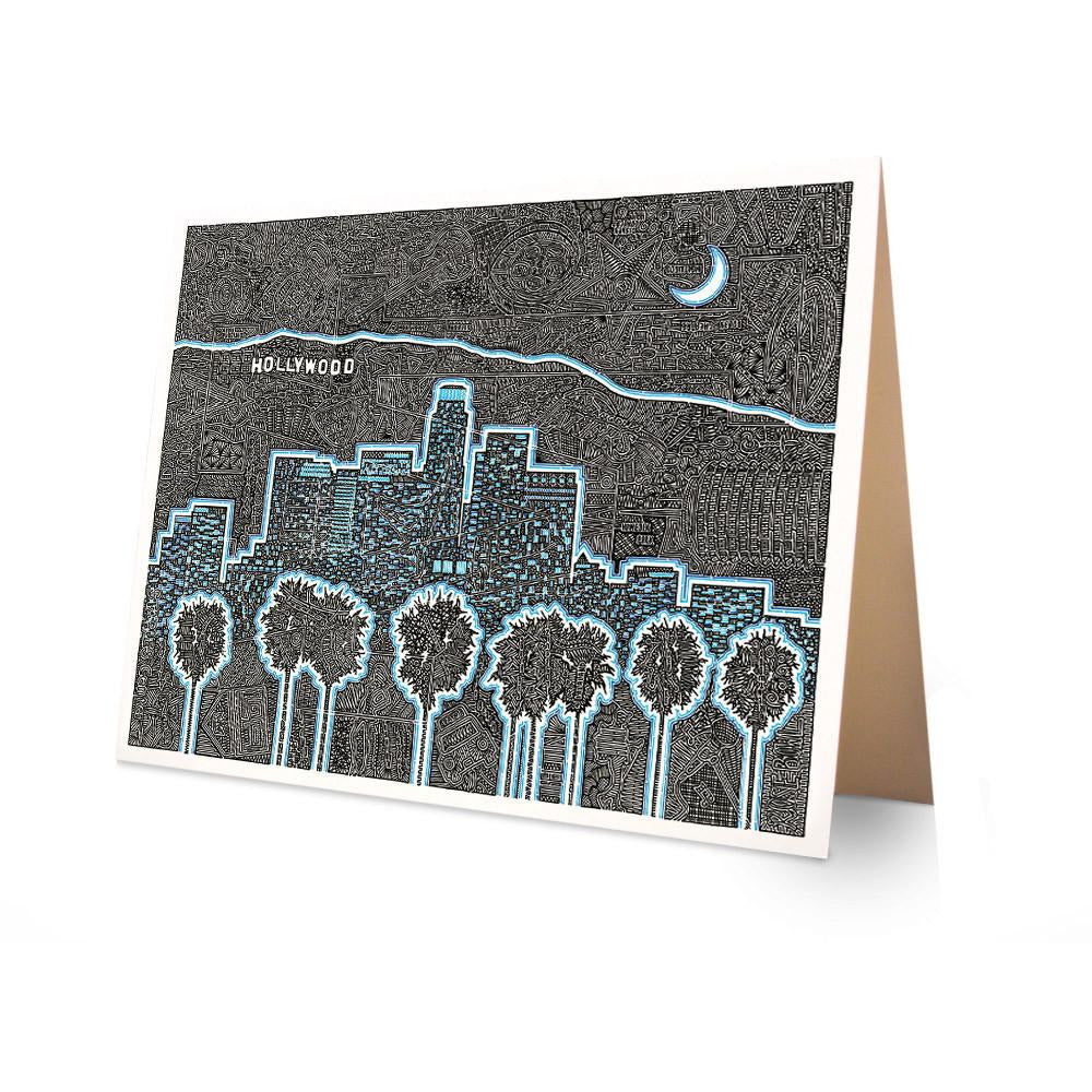 Greeting Card - Illuminating LA-Greeting Cards-Viz Art Ink
