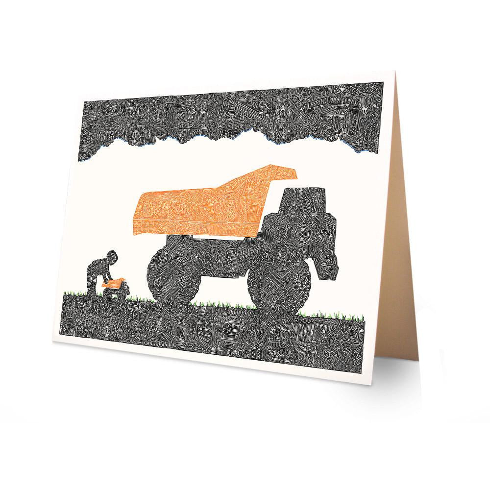 Greeting Card - Keep on Truckin'-Greeting Cards-Viz Art Ink