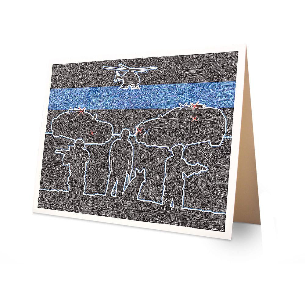 Greeting Card - The Thin Blue Line