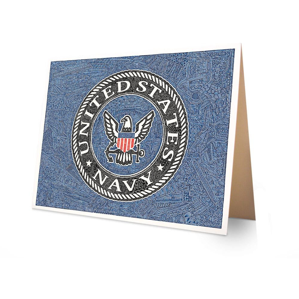 Greeting Card - U.S. Navy-Greeting Cards-Viz Art Ink