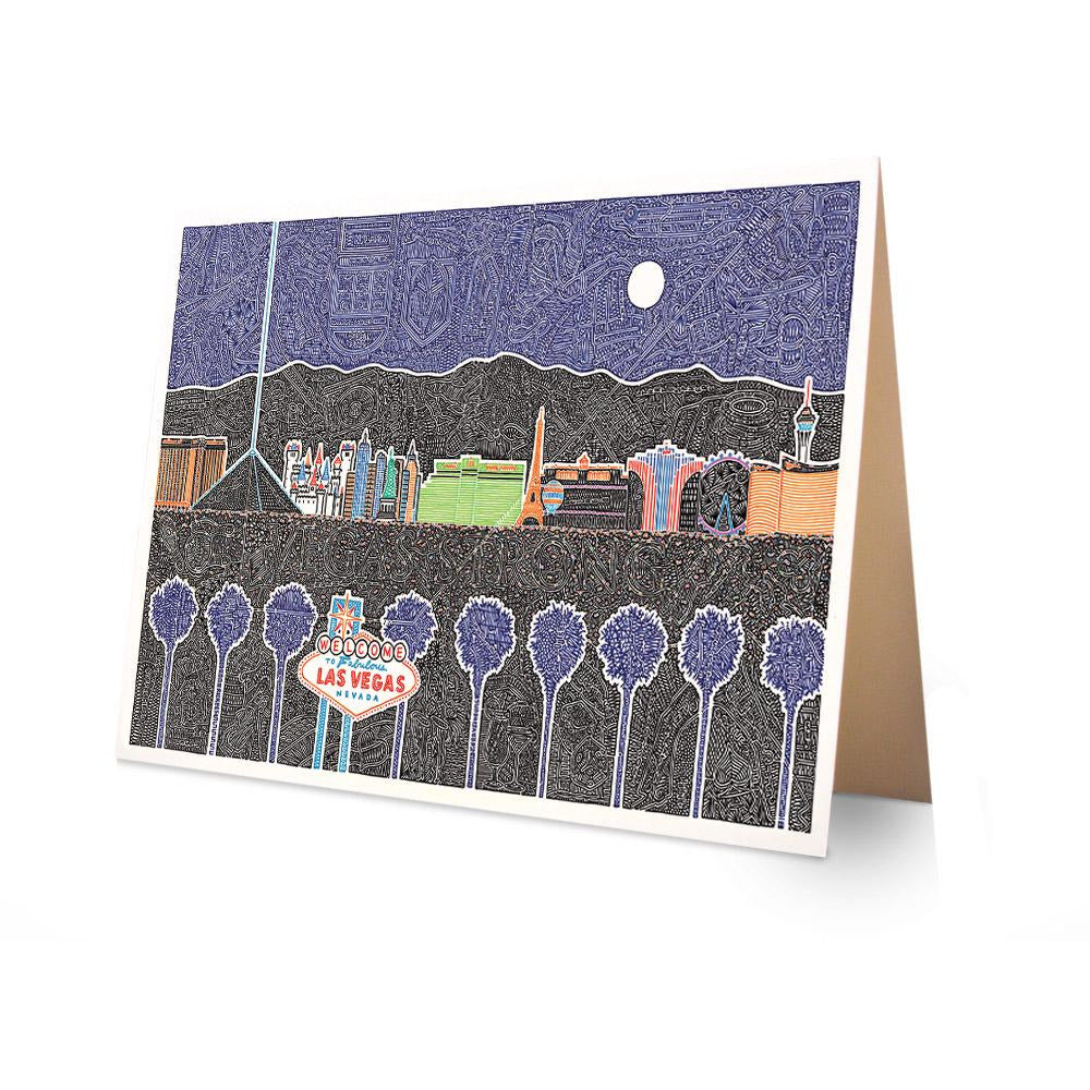 Greeting Card - Vegas-Greeting Cards-Viz Art Ink