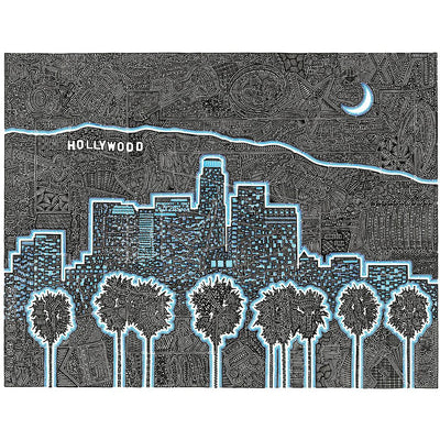 Art Print - Illuminating LA-Art Print-Viz Art Ink