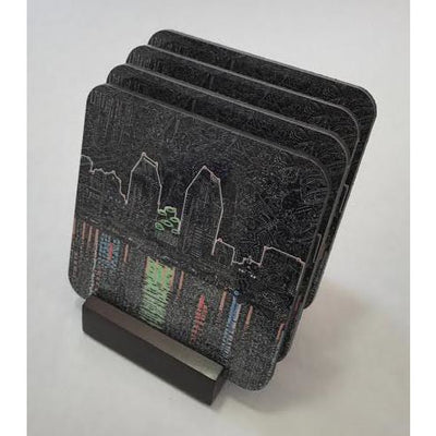 Coasters - Reflecting San Diego-Coasters-Viz Art Ink
