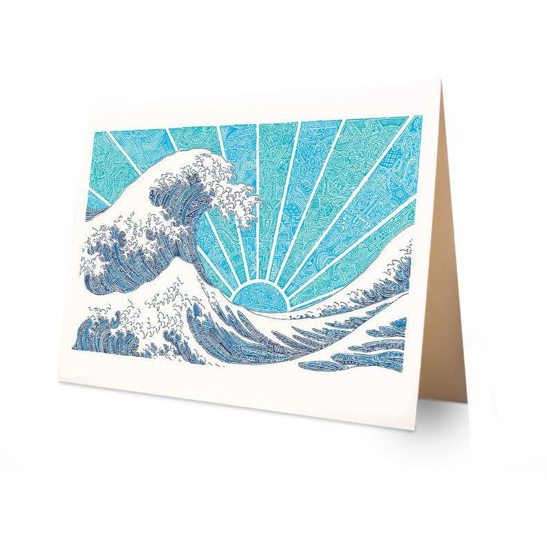 Greeting Card - Off California (Blue)-Greeting Cards-Viz Art Ink