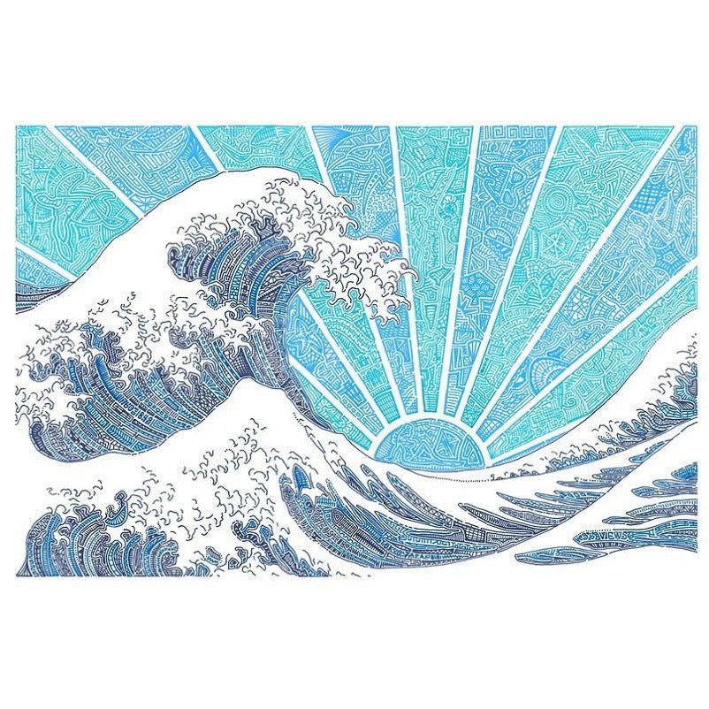 Art Print - Off California (Blue)