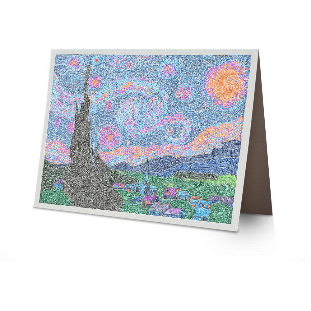 Greeting Card - A Night to Remember-Greeting Cards-Viz Art Ink