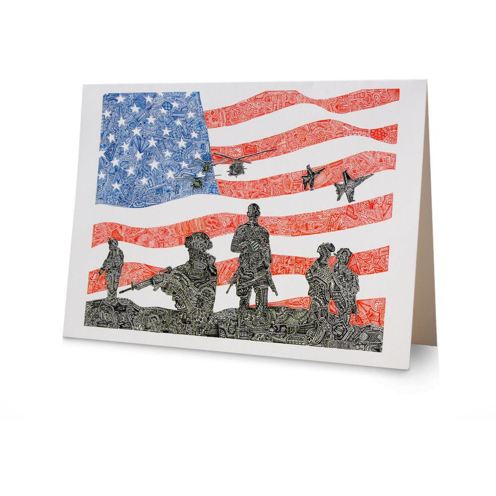 Greeting Card - American Heroes-Greeting Cards-Viz Art Ink