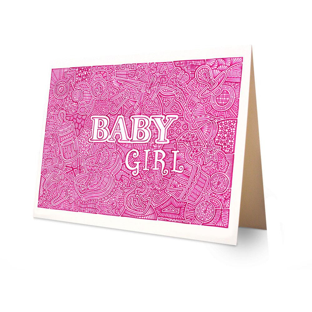 Greeting Card - Baby Girl-Greeting Cards-Viz Art Ink