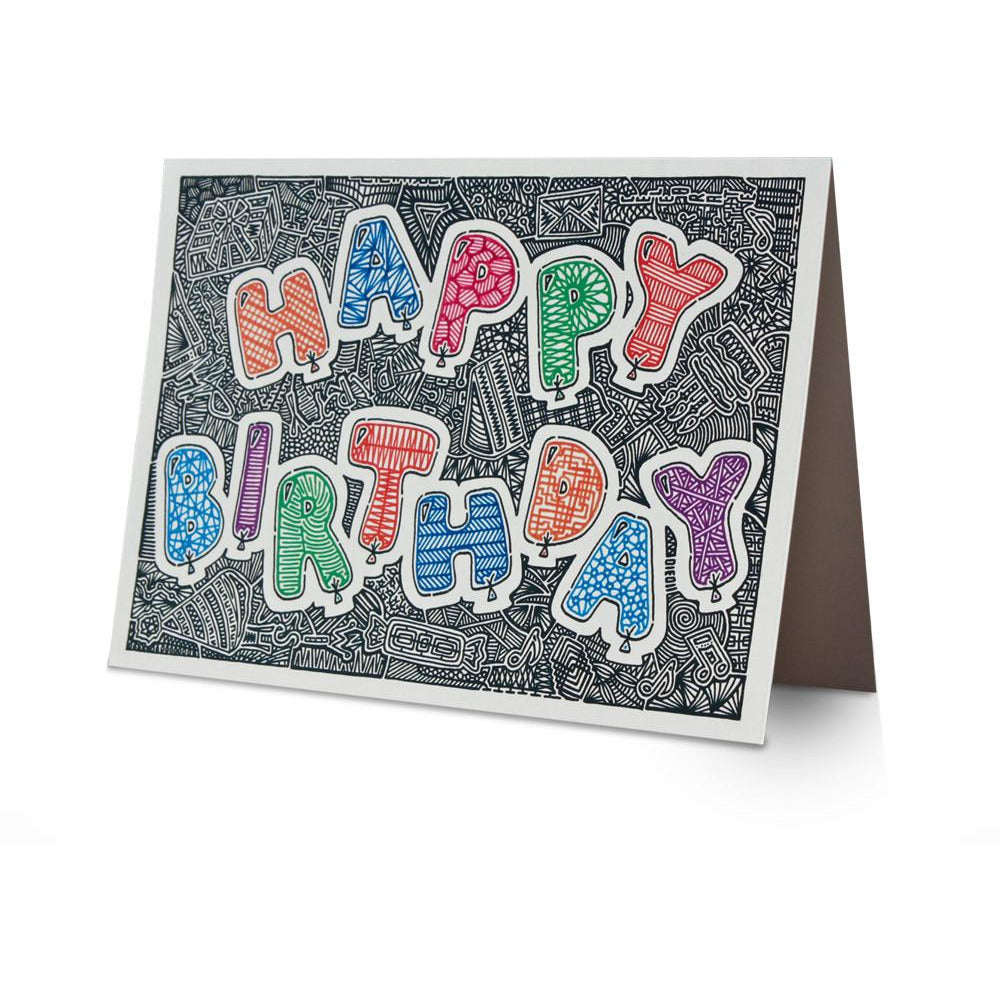 Greeting Card - Birthday Balloons